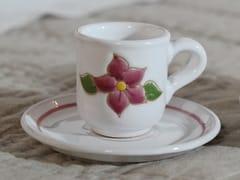 Tazza da caffè in ceramica con piattinoPRIMAVERA ROSA | Tazza da caffè - GRUPPO ROMANI
