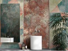 Inkiostro Bianco, EUCLIDEO EQ Carta da parati in fibra di vetro EQ Dekor per bagno