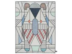 Tappeto fatto a mano a motivi geometrici EULERO OUTLINE - Signature