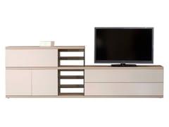 Mobile TV basso in legno con cassettiEUREKA BT011 - ROCHE BOBOIS