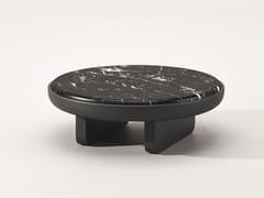 Tavolino rotondo in marmo Nero MarquinaEURIDICE | Tavolino in marmo Nero Marquina - BABATO 1934