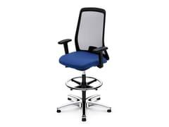 Sedia ufficio operativa ergonomica girevole in rete EVERY IS1 195E -