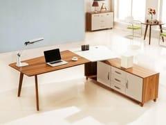 Scrivania ad angolo in legno con scaffale integratoEVOLUTIO A309 - ARREDIORG