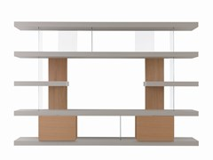 Libreria a giorno in legno e vetro con porta tvEX LINE - FORME'S DI SECCHI ENRICO & C.
