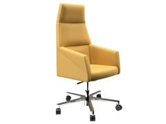 Poltrona ufficio direzionale in tessuto con base alluminioRAY | Poltrona ufficio direzionale - OFIFRAN