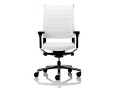 Sedia ufficio girevole imbottita reclinabile in pelleEXPO 15 | Sedia ufficio in pelle - VAGHI