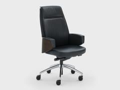 Poltrona ufficio direzionale girevole in pelle con schienale medioGRACE | Poltrona ufficio direzionale - VIGANÒ & C.