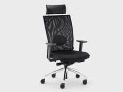 Poltrona ufficio direzionale reclinabile in tessuto con braccioliQUEEN MESH | Poltrona ufficio direzionale - VIGANÒ & C.
