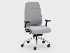 Poltrona ufficio direzionale in pelle con ruote con schienale medioMADAM OFFICE | Poltrona ufficio direzionale con braccioli - VIGANÒ & C.