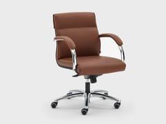 Poltrona ufficio direzionale reclinabile in pelle con braccioliICARO | Poltrona ufficio direzionale con braccioli - VIGANÒ & C.