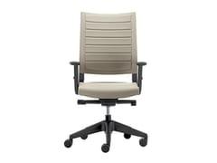 Sedia ufficio girevole in tessuto con braccioliEXPO LIGHT | Sedia ufficio con braccioli - VAGHI