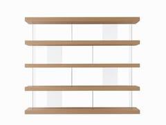 Libreria autoportante bifacciale in legno e vetroF. LINE 2400 FREE - FORME'S DI SECCHI ENRICO & C.