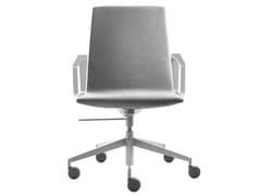 Sedia ufficio ad altezza regolabile in tessuto con braccioliSWING | Sedia ufficio con schienale basso - SELLEX