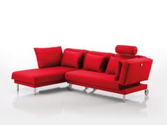 Divano in tessuto con chaise longue TAM | Divano in tessuto - Tam