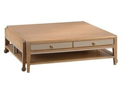 Tavolino allungabile basso in ciliegio con ruoteFACTORY   Tavolino - ROCHE BOBOIS