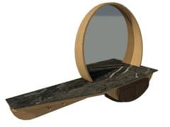 Mobile da ingresso a parete in rovere e noce con specchioFAI | Mobile ingresso M01 - 2K1M