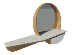 Mobile da ingresso laccato in rovere a parete con specchioFAI | Mobile ingresso M02 - 2K1M