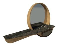 Mobile da ingresso in rovere e ecopelle con specchioFAI | Mobile ingresso M03 - 2K1M