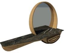 Mobile da ingresso in noce e rovere con inserti con specchioFAI | Mobile ingresso M05 - 2K1M