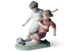 Soprammobile in porcellanaFAIR PLAY CHILDREN FOOTBALL - LLADRÓ
