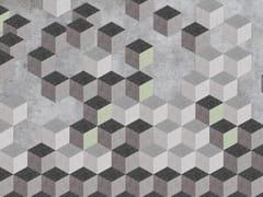 Carta da parati ecologica lavabile in stile industriale senza PVCFALLIN' CUBES - WALLPEPPER