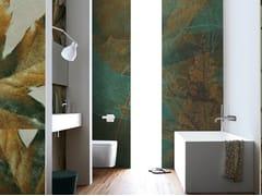 Inkiostro Bianco, FALLING EQ Carta da parati in fibra di vetro EQ Dekor per bagno