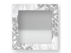Specchio quadrato da parete con cornice FANTASY COLD | Specchio - DOLCEVITA MARRAKECH