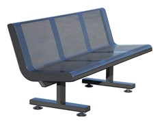 Panchina in acciaio con schienaleFEDRA - CALZOLARI