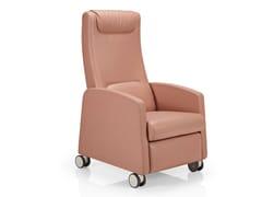 Poltrona reclinabile in pelle con ruoteFEDRA   Poltrona con ruote - JMS - J. MOREIRA DA SILVA & FILHOS