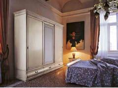Armadio in legno e vetro con ante scorrevoli FENICE | Armadio in legno e vetro - Fenice