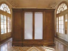 Armadio in legno e vetro con cassettiera FENICE | Armadio in stile classico - Fenice