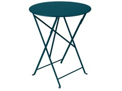 Tavolo da giardino pieghevole rotondo in acciaioFERMOB - BISTRO ACAPULCO BLUE - ARCHIPRODUCTS.COM