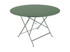 Tavolo da giardino pieghevole rotondo in acciaioFERMOB - BISTRO CEDAR GREEN - ARCHIPRODUCTS.COM