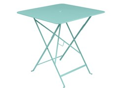 Tavolo pieghevole quadrato in acciaioFERMOB - BISTRO LAGOON BLUE - ARCHIPRODUCTS.COM