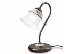 Lampada da tavolo in ceramica con braccio fissoFERRARA | Lampada da comodino - FERROLUCE