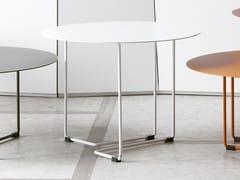 Tavolino rotondo in acciaio verniciato a polvere FERRO 3 - Ferro 3