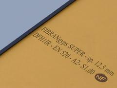 Lastra in cartongesso resistente al fuocoFIBRANgyps SUPER - FIBRAN