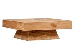 Tavolino basso quadrato in legno masselloFIDEL - ARREDIORG