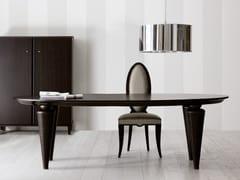 Tavolo ovale in legno FIDELIA | Tavolo ovale -