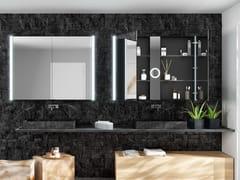 DDL, FIFTY SERIE 100 Specchio con contenitore e illuminazione integrata da parete