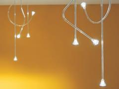 Lampada a sospensione a LED fatta a mano in vetro borosilicatoFILI D'ANGELO - ALBUM ITALIA