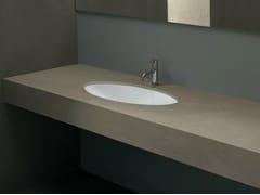 Lavabo da incasso sottopiano ovale in ceramica in stile moderno FILO70 - Various