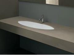 Lavabo da incasso sottopiano ovale in ceramica FILO90 - Various