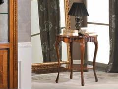 Tavolino rotondo in legno massello FIORE - Baroque