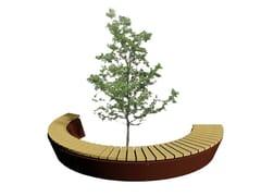 Panchina circolare in legno senza schienaleFIRENZE - EUROFORM K. WINKLER