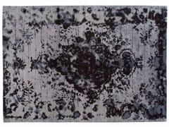 Tappeto fatto a mano rettangolare in lana e seta FIRUZABAD DARK - Memories