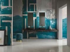 Inkiostro Bianco, FITFUL EQ Carta da parati in fibra di vetro EQ Dekor per bagno