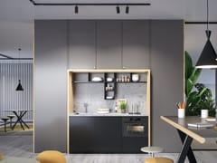 Cucina componibile lineare in legnoINTERPARETE BRIEFING | Cucina componibile - ESTEL GROUP
