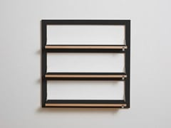 Mensola ribaltabile in compensato FLÄPPS 80x80x3 - BLACK - Fläpps Shelf 80×80-3