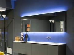 Antonio Lupi Design, FLASH50-75 Specchio rettangolare con illuminazione integrata da parete